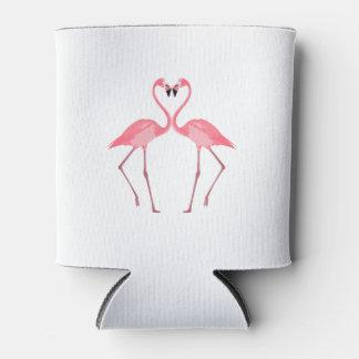 Porta-lata Amor cor-de-rosa bonito dos flamingos