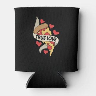 Porta-lata Amor verdadeiro do partido da pizza