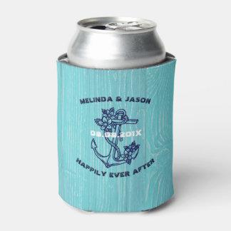 Porta-lata Âncora náutica azul escuro do barco das pranchas