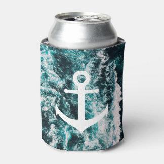 Porta-lata Âncora náutica no fundo da foto do oceano