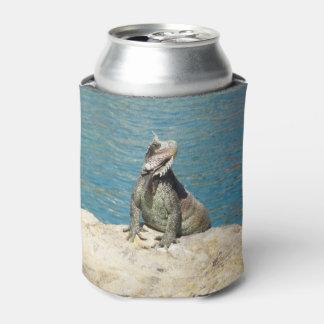 Porta-lata Animais selvagens tropicais da iguana