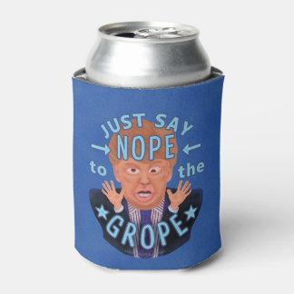Porta-lata Anti eleição 2016 de Donald Trump Nope ao Grope