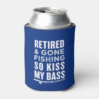 Porta-lata Aposentado e ido pescar assim o beijo minha lata