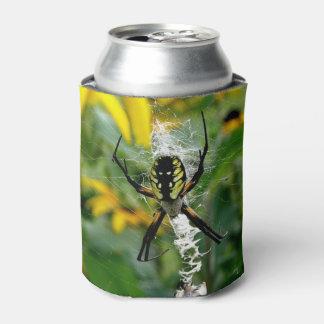 Porta-lata Aranha impressionante da esfera da foto na Web