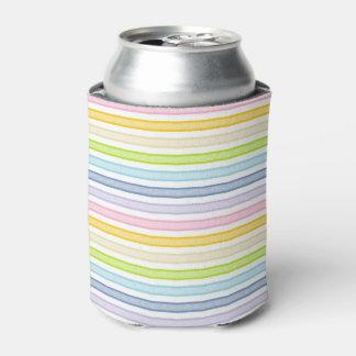 Porta-lata Arco-íris esboçado do Pastel das listras