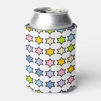 Porta-lata Arco-íris Pastel esboçado preto estrelas de 6