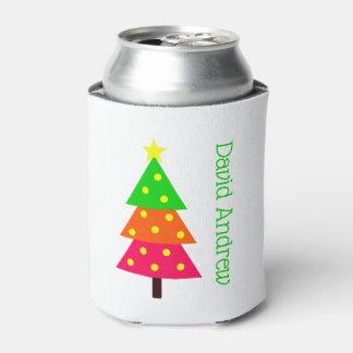 Porta-lata Árvore de Natal alegre e brilhante personalizada