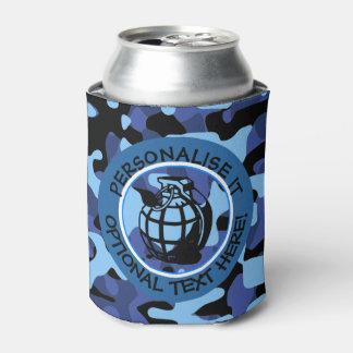 Porta-lata As forças armadas azuis camuflam com granada
