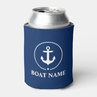 Porta-lata Azuis marinhos náuticos da corda da âncora do nome
