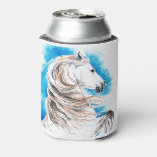 Porta-lata Azul andaluz do cavalo