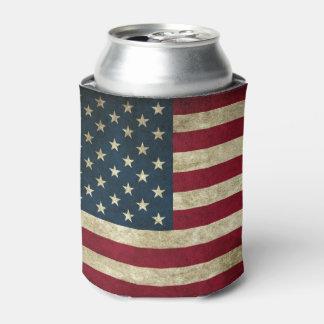 Porta-lata Bandeira americana do Grunge