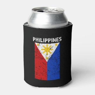 Porta-lata Bandeira de Filipinas - afligida pode o
