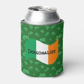 Porta-lata Bandeira irlandesa com trevos