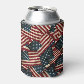 Porta-lata Bandeiras americanas afligidas