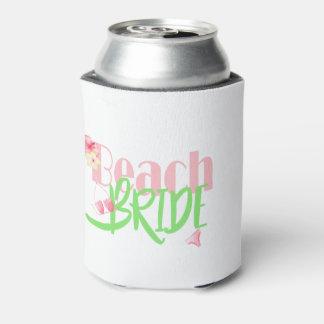 Porta-lata beach-bride-green.gif