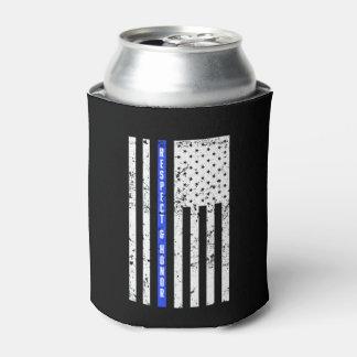 Porta-lata Blue Line fino - respeito e honra - possa