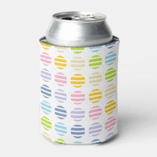 Porta-lata Bolinhas e listras Pastel do arco-íris