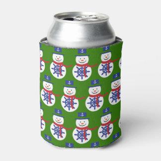 Porta-lata boneco de neve