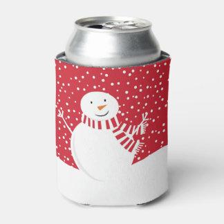 Porta-lata boneco de neve contemporâneo moderno do inverno