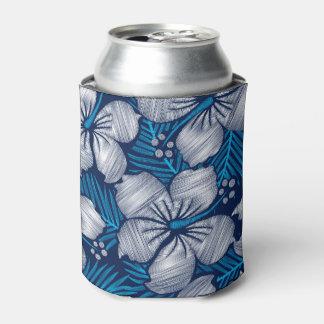 Porta-lata Bordado impresso tropical do hibiscus