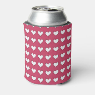 Porta-lata Branco encaracolado do coração no refrigerador
