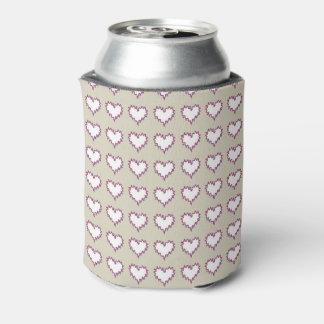 Porta-lata Branco encaracolado do coração no refrigerador da