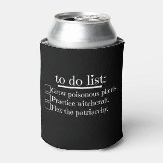 Porta-lata Bruxa feminista para fazer a lista