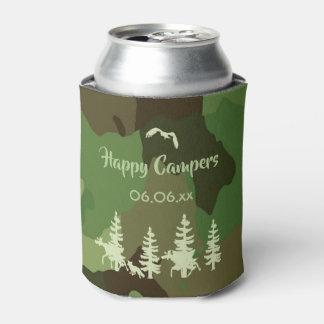Porta-lata Camuflagem dos caçadores da verde floresta e