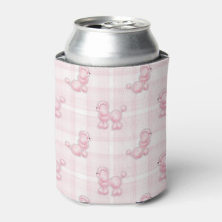 Porta-lata Caniches cor-de-rosa bonitos & verificações