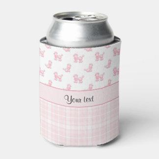 Porta-lata Caniches & verificações cor-de-rosa do rosa