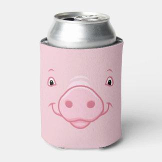 Porta-lata Cara cor-de-rosa feliz bonito do porco