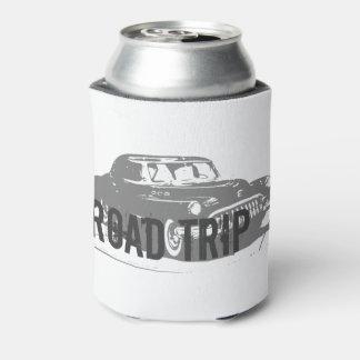 Porta-lata Carro vintage da viagem por estrada