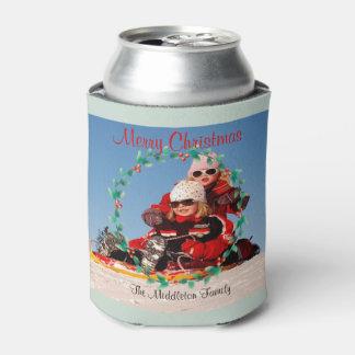 Porta-lata Cartões de natal do Natal   da foto no verde