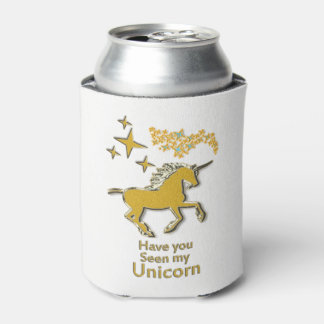 Porta-lata Cavalo do pônei do unicórnio do ouro com estrelas