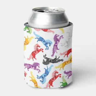 Porta-lata Cavalos de salto coloridos do teste padrão