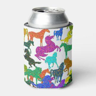 """Porta-lata Cavalos do arco-íris - """"Dotty sobre cavalos! """""""