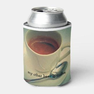 Porta-lata cerveja do café acolhedor