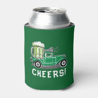 Porta-lata Cerveja do verde do caminhão do vintage do Dia de