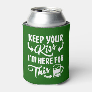 Porta-lata Cerveja irlandesa Beijo-Estar-Ida de Paddys dia