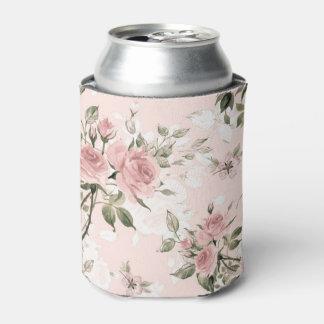 Porta-lata Chique, chique francês, vintage, floral, rústico,