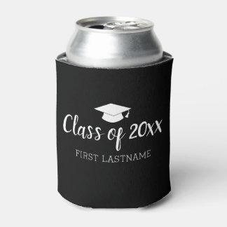 Porta-lata Classe de ano e de nome - o preto pode mudar a cor