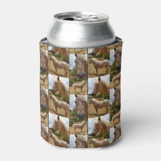 Porta-lata Colagem da foto dos cavalos do Appaloosa,
