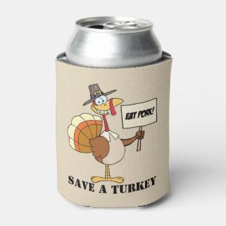 Porta-lata Coma economias da carne de porco uma Turquia