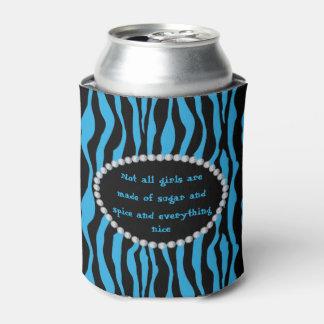 Porta-lata Cómico - zebra azul, diamantes não todas as