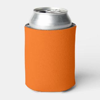Porta-lata cor sólida alaranjada de néon