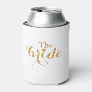 Porta-lata Coração do ouro a folha do falso da noiva