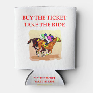 Porta-lata corrida de cavalos