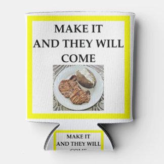 Porta-lata costeleta de carne de porco
