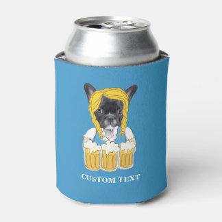 Porta-lata Costume engraçado do amante da cerveja do buldogue