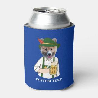 Porta-lata Costume engraçado do amante do cão & da cerveja do